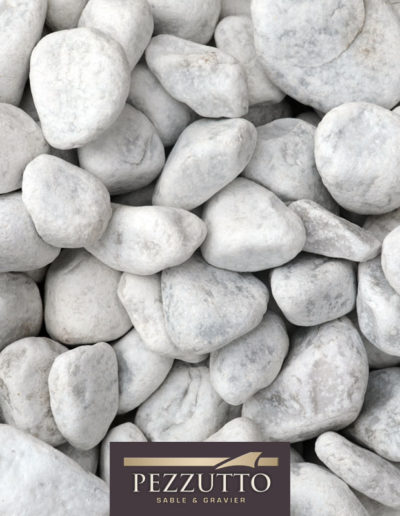 Galets marbre blanc de Carrare Pezzutto